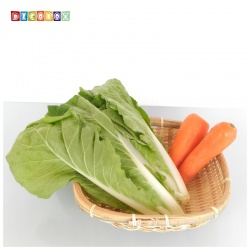 DecoBox精緻方形深竹盤(24高7公分-5個)(竹編織盤.乾阿.湯圓篩.洗菜籃.黑蒜頭.竹篩)