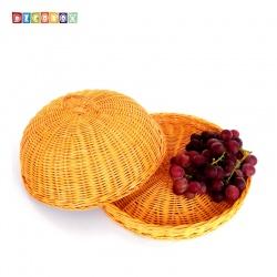 DecoBox鄉村風峇里島藤編小桌罩組(直徑32公分)(宴王.燈罩.露營食物罩,野餐)