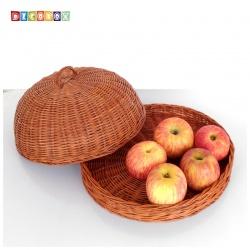 DecoBox休閒風峇里島藤編小桌罩組(直徑32公分)(宴王.燈罩.露營食物罩,野餐)