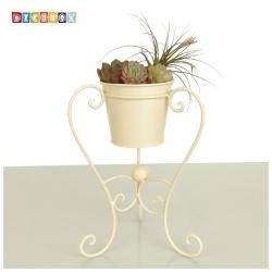 DecoBox陽光藝術刷白桌上型小花架(多肉花架,花盆,筆筒)