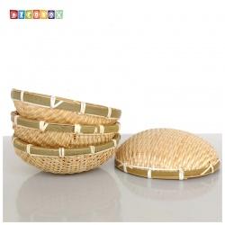 DecoBox精緻21公分圓型深竹盤(5個)(黑蒜頭, 湯圓.柑阿.乾阿.米苔.米篩.小米蘿)