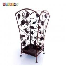 DecoBox玫瑰蝶舞古銅方形萬用傘桶(巴洛克,傘架,紙簍,收納桶,花盆套,颱風,下雨)