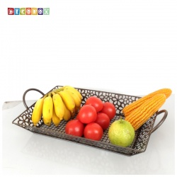 DecoBox維多利亞風鍛鐵長方大水果盤(收納籃, 水果籃)