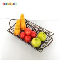 DecoBox維多利亞風鍛鐵長方小水果盤(收納籃, 水果籃)