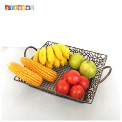 DecoBox維多利亞風鍛鐵正方大水果盤(收納籃, 水果籃)