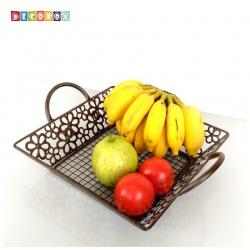 DecoBox維多利亞風鍛鐵正方小水果盤(收納籃, 水果籃)