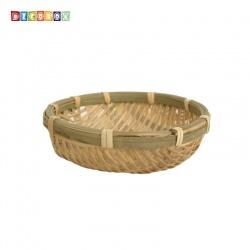 DecoBox精緻10公分圓型竹盤(10個)(黑蒜頭, 湯圓.柑阿.乾阿.米苔.米篩.小型竹編籃)