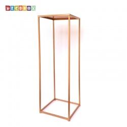 DecoBox經典紅金色方形120公分花架 (婚喪喜慶布置,羅馬柱,走道花鐵架,展示架)