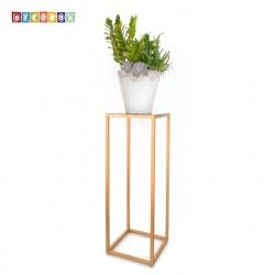 DecoBox經典紅金色方形100公分花架 (婚喪喜慶布置,羅馬柱,走道花鐵架,展示架)