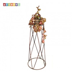 DecoBox設計風古銅圓形84公分大花架 (婚喪喜慶布置,羅馬柱,走道花鐵架,展示架)