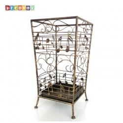 DecoBox銅金貝多芬方形萬用傘桶(音樂風,傘架,紙簍,收納桶,花盆套,颱風,下雨)