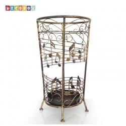 DecoBox銅金貝多芬圓形萬用傘桶(音樂風,傘架,紙簍,收納桶,花盆套,颱風,下雨)