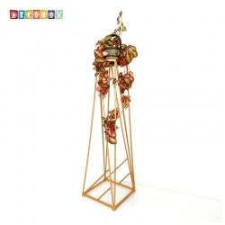 DecoBox時尚紅金走道花架(2個)(多肉花架,走道花鐵架, 燭台, 立燈架)