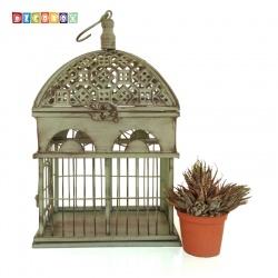 DecoBox英倫風長方銅綠小鳥籠花架(多肉防鳥花架)