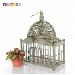 DecoBox古玫溫室銅綠小鳥籠花架(多肉防鳥花架)