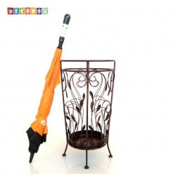 DecoBox藤舞圓形紅銅萬用傘桶(傘架,紙簍,收納桶,花盆套,陽傘,下雨)