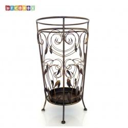 DecoBox藤舞圓形銅金萬用傘桶(傘架,紙簍,收納桶,花盆套,陽傘,下雨)