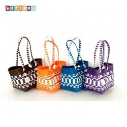 DecoBox波希米亞長提環保小餐包(2個)(購物袋,野餐.手工編織包)