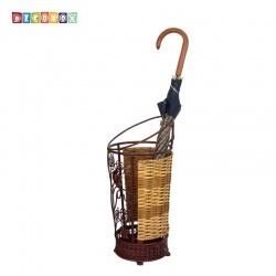 DecoBox磚紅花塔圓形萬用傘桶(傘架.紙簍.收納桶.花盆套.鍛鐵藤編)