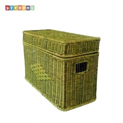 DecoBox粉綠藤編小收納箱(雜物箱, 玩具箱, 衣物收納)