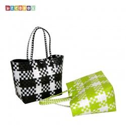 DecoBox蘇格蘭中環保包(2個)(購物袋,野餐.手工編織包)