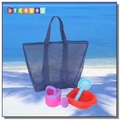 DecoBox酷夏海灘中便利袋(2個)(購物袋,野餐.手工編織包)