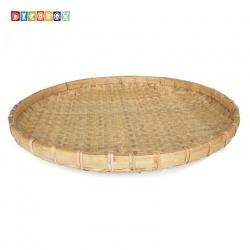 DecoBox日曬用厚竹盤(直徑90高8公分-1個)(抓週竹盤,搖元宵,搓湯圓,柑阿,乾阿,米苔,米篩)