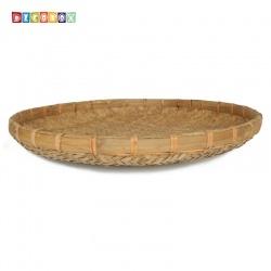 DecoBox日曬用厚竹盤(直徑78高7.5公分-1個)(抓週竹盤.手工竹編織盤.柑阿.乾阿.米苔.米篩)