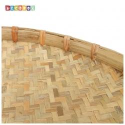 DecoBox日曬用厚竹盤(直徑72高7.5公分-1個)(抓週竹盤,搖元宵,搓湯圓,柑阿,乾阿,米苔,米篩)