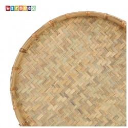 DecoBox日曬用厚竹盤(直徑65高7公分-1個)(抓週竹盤,搖元宵,搓湯圓,柑阿,乾阿,米苔,米篩)