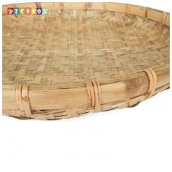 DecoBox日曬用厚竹盤(直徑60高6公分-1個)(抓週竹盤,搖元宵,搓湯圓,柑阿,乾阿,米苔,米篩)