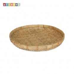 DecoBox日曬用厚竹盤(直徑54高8公分-1個)(抓週竹盤,搖元宵,搓湯圓,柑阿,乾阿,米苔,米篩)