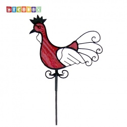 DecoBox火鳥彩繪玻璃花插(園藝.花架.花台.盆景架.花插.攀爬架.鍛鐵花器)