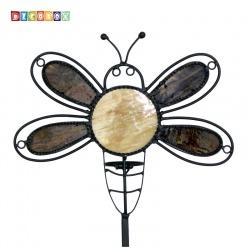 DecoBox瓢蟲彩繪玻璃花插(園藝.花架.花台.盆景架.花插.攀爬架.鍛鐵花器)