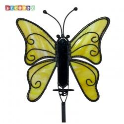 DecoBox蝴蝶彩繪玻璃花插(園藝.花架.花台.盆景架.花插.攀爬架.鍛鐵花器)
