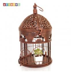 DecoBox英倫風圓形小鳥籠花架(多肉防鳥花架)