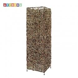 DecoBox南洋風三色藤方形大立燈-不含燈泡,線材(宴王,燈罩, 花架)