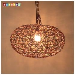DecoBox 南洋風三色藤燈罩(55公分-1個)-不含燈泡線材,宴王