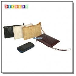 DecoBox精緻竹編橫入手機袋(1個)(零錢包, 名片收納)