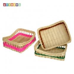 DecoBox鄉村風彩色分類大長方盤(3個)(雜物籃)