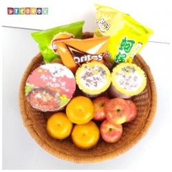 DecoBox日式鄉村風藤編大圓盤(2個)(寵物籃)