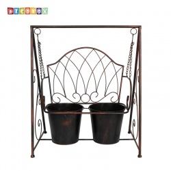 DecoBox陽光藝術- 古銅搖椅花架(多肉花架)