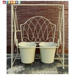 DecoBox陽光藝術- 刷白搖椅花架(多肉花架)