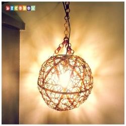 DecoBox峇里島三色藤球型吊燈(30公分)-不含燈泡線材,不含拍攝用的裝飾品(球燈,宴王)