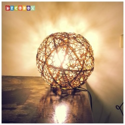 DecoBox峇里島三色藤球型吊燈(26公分-1個)-不含燈泡線材,不含拍攝用的裝飾品(球燈,宴王)