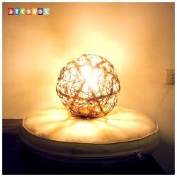 DecoBox峇里島三色藤球型吊燈(21公分-1個)-不含燈泡線材,不含拍攝用的裝飾品(球燈,宴王)