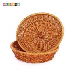 DecoBox 普羅旺斯圓型收納盤(30公分-2個) (雜物籃.神桌拜拜水果盤..麵包盤.肉粽籃)