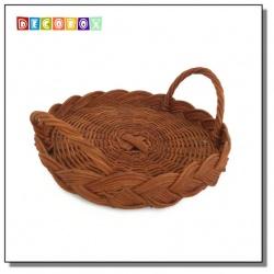 DecoBox休閒風buffet小藤盤(5個)(麵包籃.刀叉置物籃.隔熱墊.調味罐收納籃)