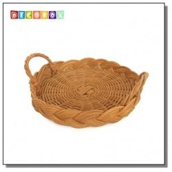 DecoBox鄉村風buffet小藤盤(5個) (麵包籃.刀叉置物籃.隔熱墊.水果籃)