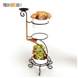 DecoBox刷白桌上小花架(筆桶.園藝.花器.不含拍攝用的竹球)